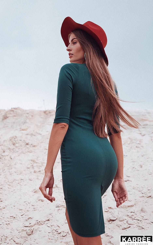 Платье Монин, Темно-зеленый - фото 2