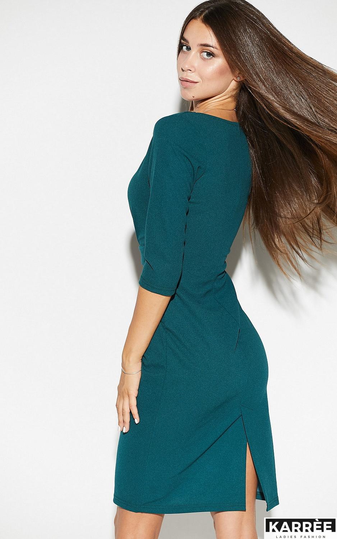 Платье Монин, Темно-зеленый - фото 5