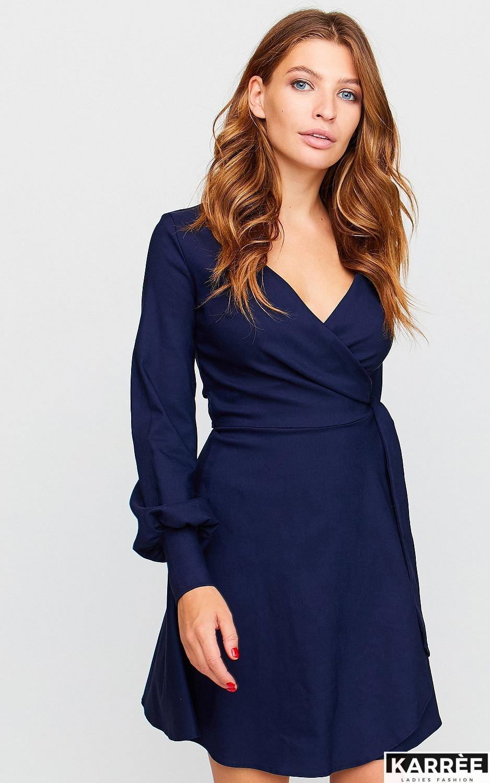 Платье Айрис, Темно-синий - фото 2