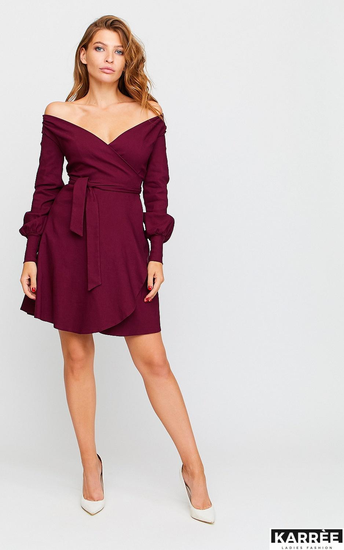 Платье Айрис, Бордо - фото 3