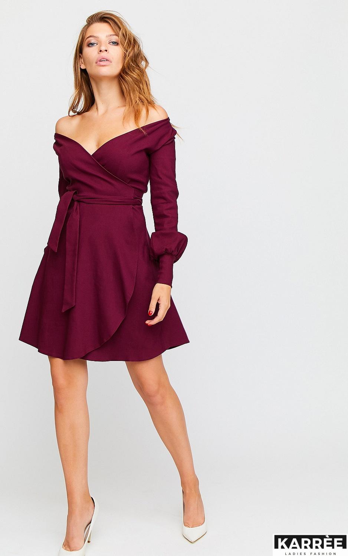 Платье Айрис, Бордо - фото 4
