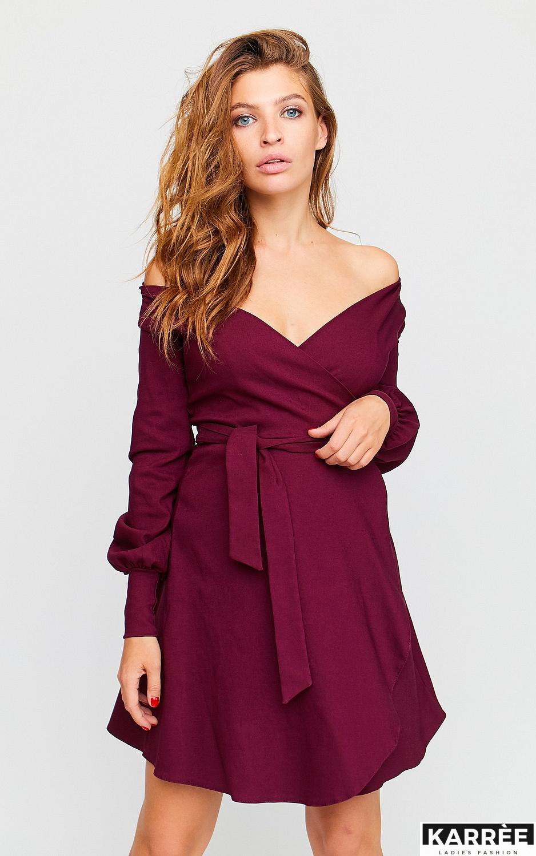 Платье Айрис, Бордо - фото 2