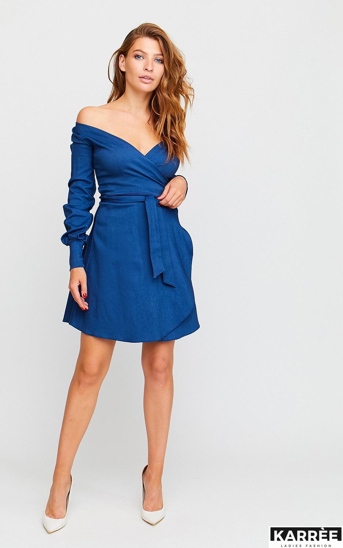Платье Айрис, Синий - фото 3