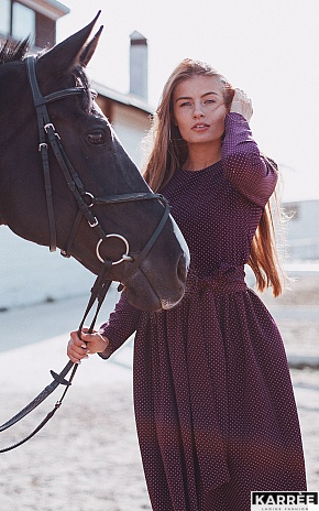 Платье Мадлен, Бургунди - фото 1