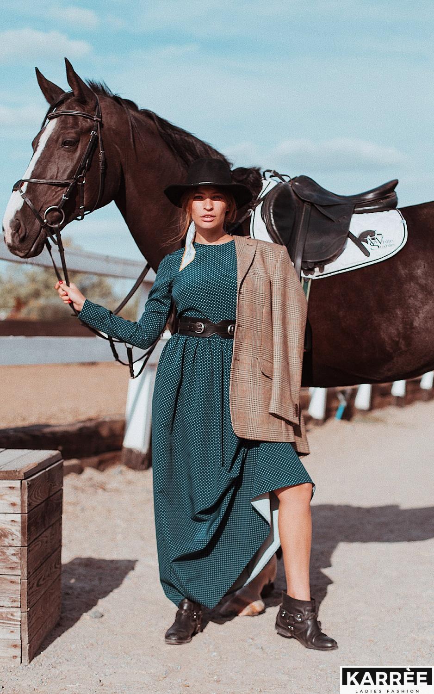 Платье Мадлен, Темно-зеленый - фото 5