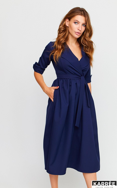 Платье Мэй, Темно-синий - фото 3