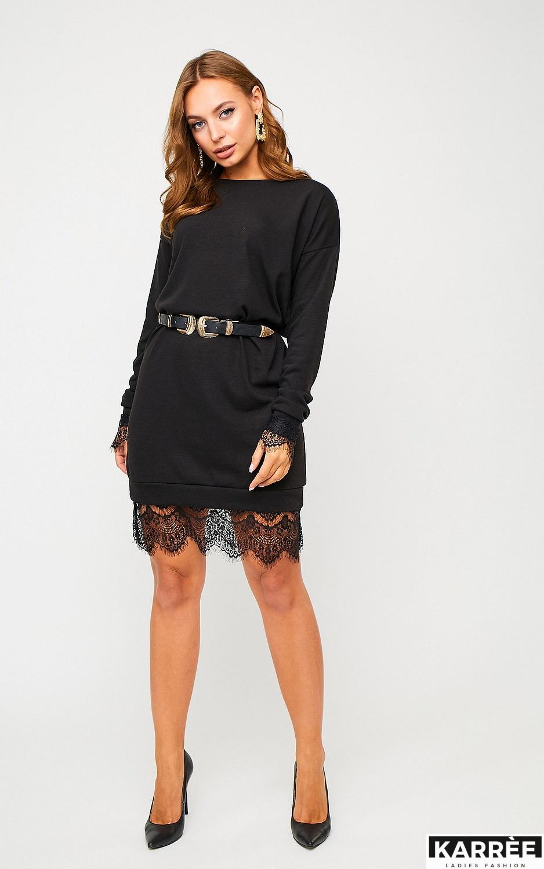 Платье Сантос, Черный - фото 3