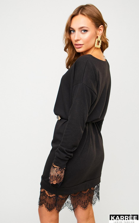 Платье Сантос, Черный - фото 4