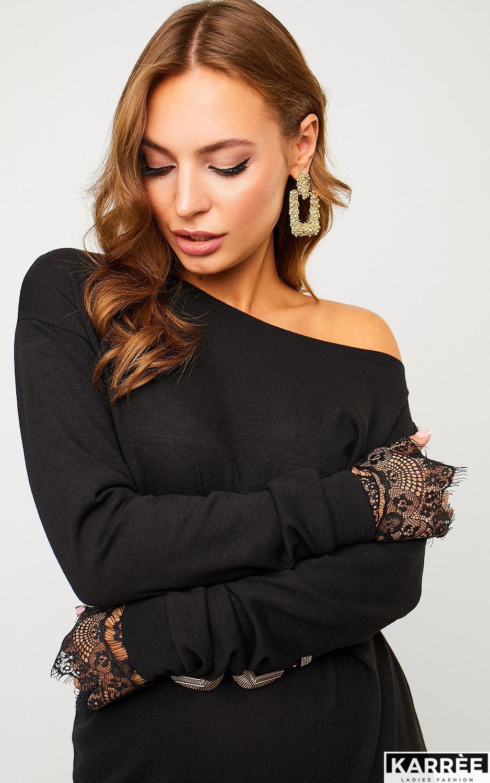 Платье Сантос, Черный - фото 2