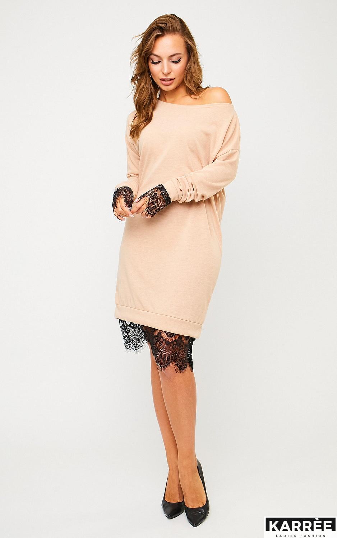 Платье Сантос, Бежевый - фото 3