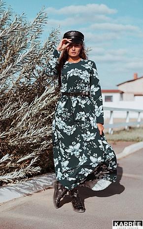 Платье Илла, Темно-зеленый - фото 1