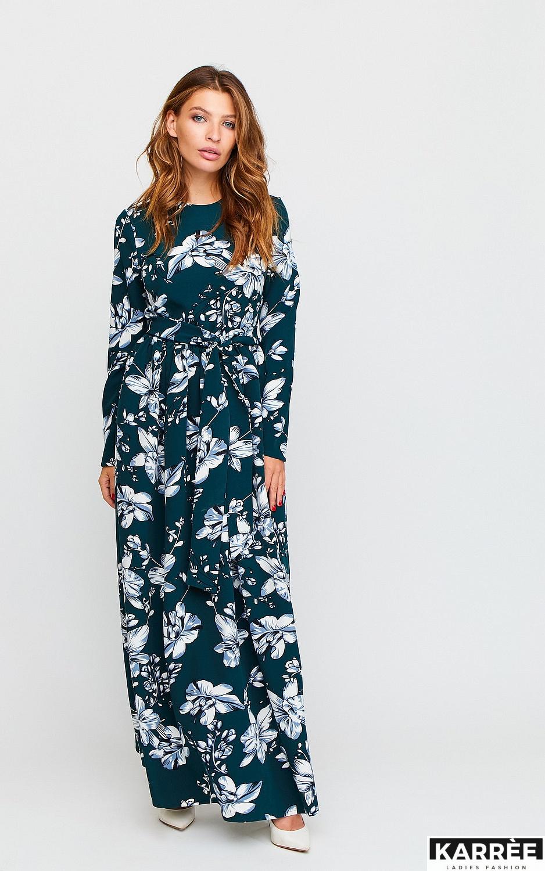 Платье Илла, Темно-зеленый - фото 2