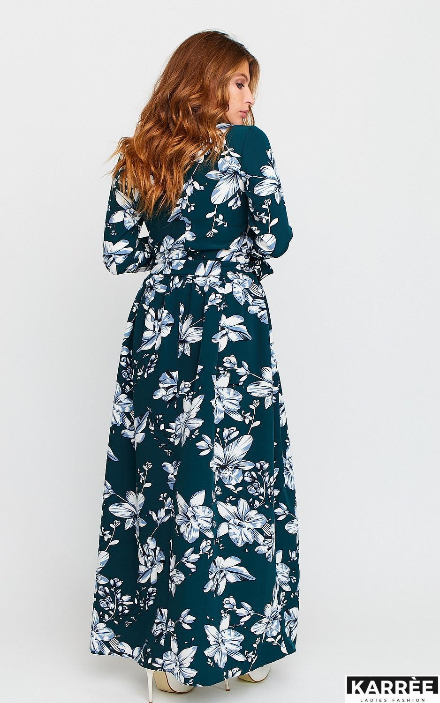 Платье Илла, Темно-зеленый - фото 3