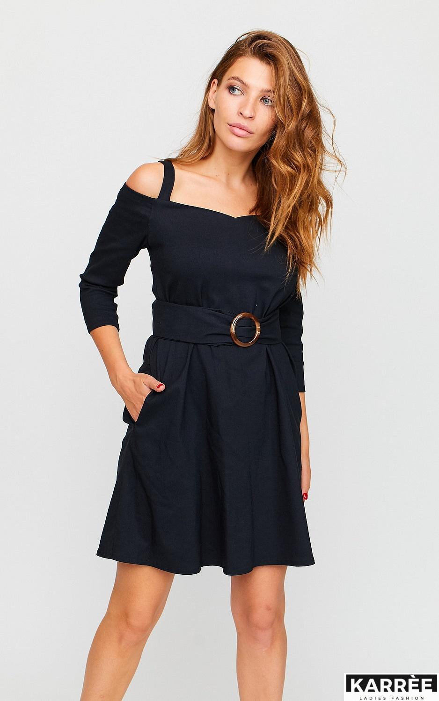 Платье Майя, Черный - фото 2