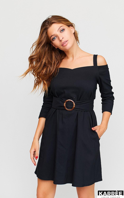 Платье Майя, Черный - фото 3