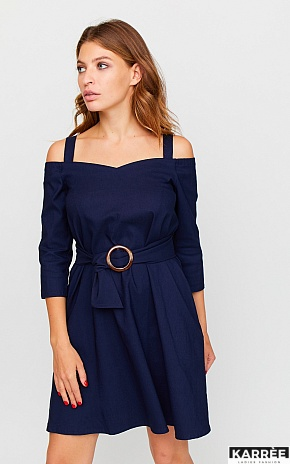 Платье Майя, Темно-синий - фото 1
