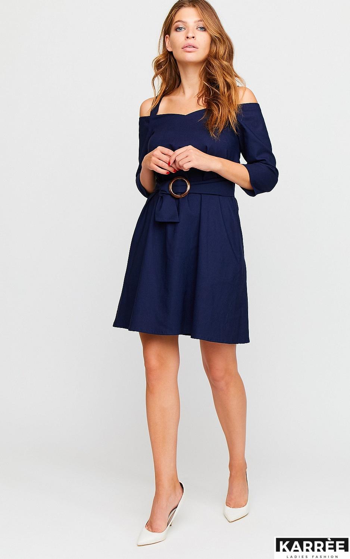 Платье Майя, Темно-синий - фото 3