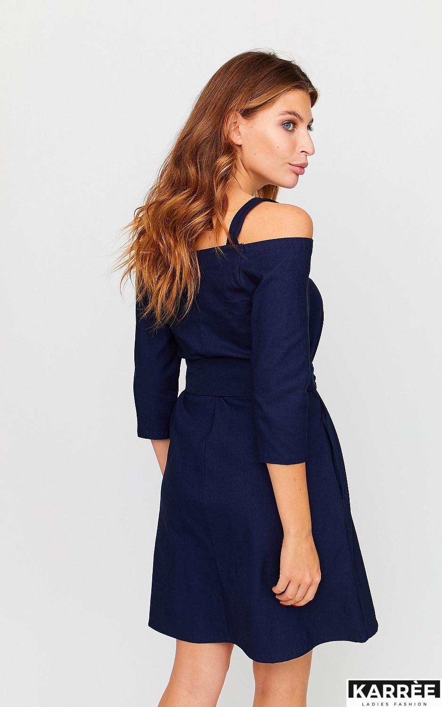 Платье Майя, Темно-синий - фото 2