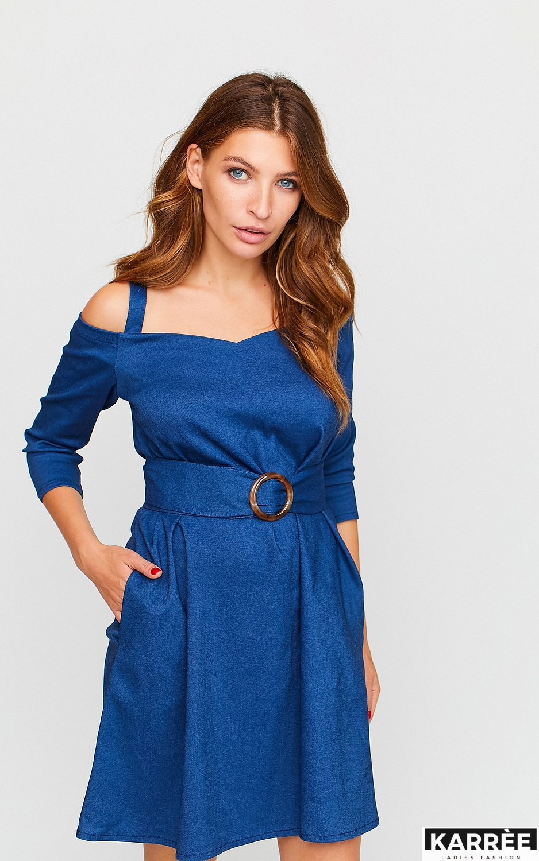 Платье Майя, Синий - фото 3