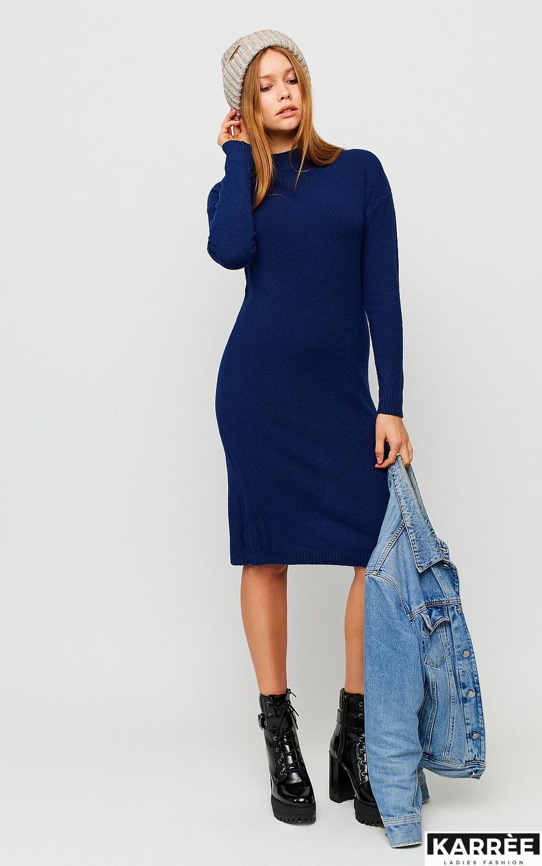Платье Лора, Темно-синий - фото 2