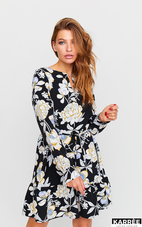 Платье Стрит, Черный - фото 2