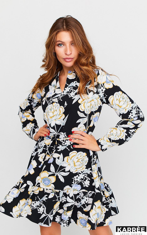 Платье Стрит, Черный - фото 3