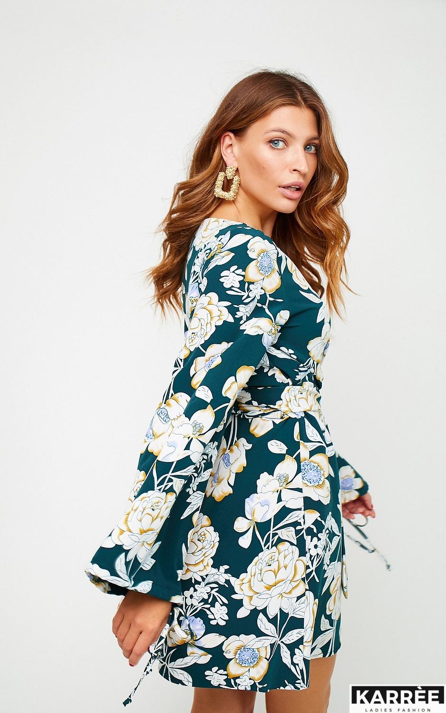 Платье Круиз, Темно-зеленый - фото 3