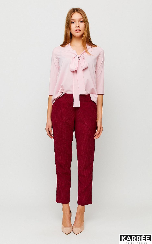 Блуза Глория, Пыльно-розовый - фото 3