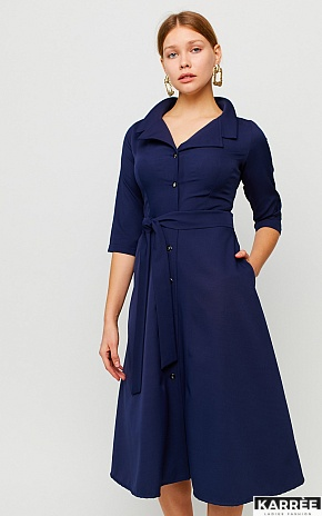 Платье Премиум, Темно-синий - фото 1
