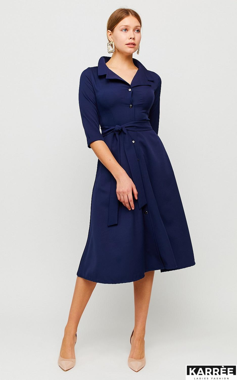 Платье Премиум, Темно-синий - фото 3