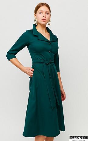 Платье Премиум, Темно-зеленый - фото 1