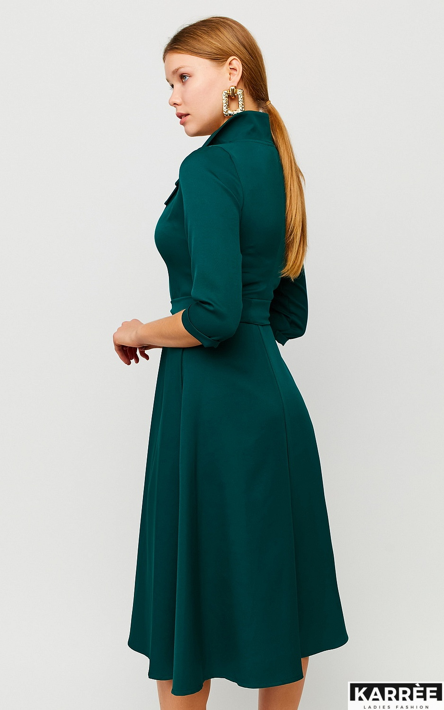 Платье Премиум, Темно-зеленый - фото 2