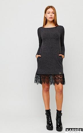 Платье Гауди, Темно-серый - фото 1