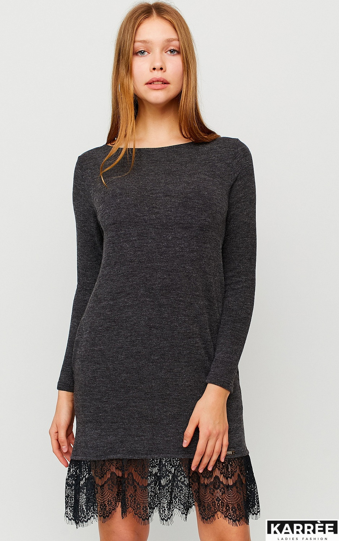 Платье Гауди, Темно-серый - фото 2