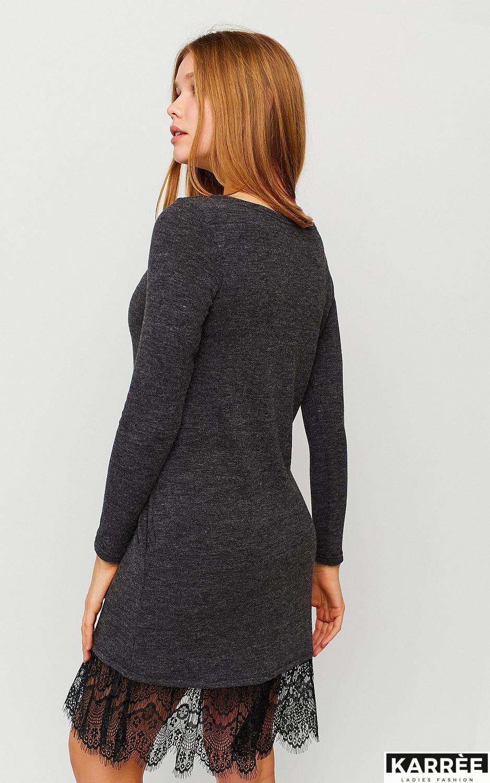 Платье Гауди, Темно-серый - фото 3