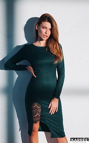 Платье Шардоне, Темно-зеленый - фото 1