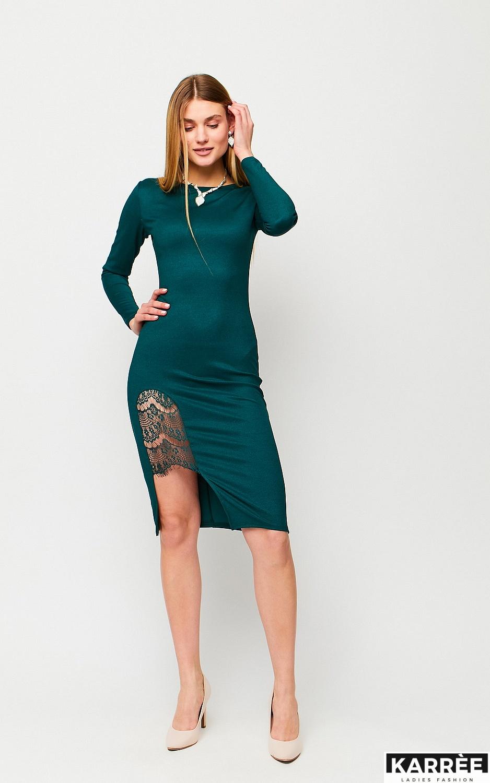 Платье Шардоне, Темно-зеленый - фото 2