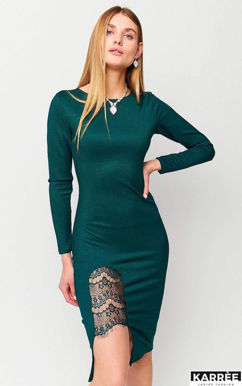 Платье Шардоне, Темно-зеленый - фото 3