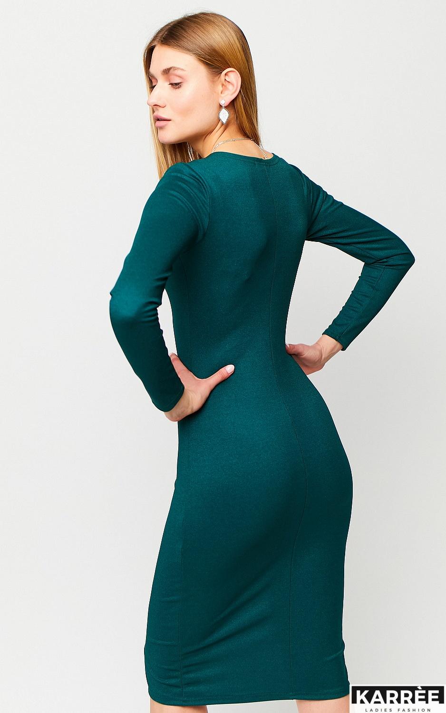 Платье Шардоне, Темно-зеленый - фото 4