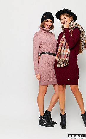Платье Сити, Пыльно-розовый - фото 1
