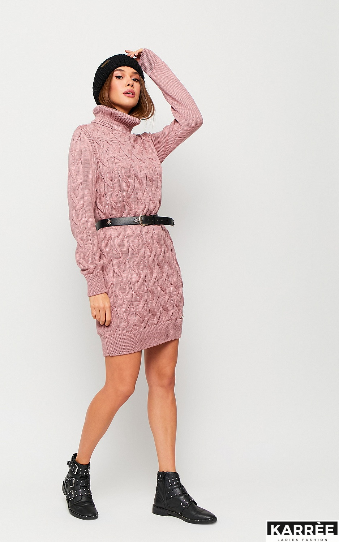 Платье Сити, Пыльно-розовый - фото 2