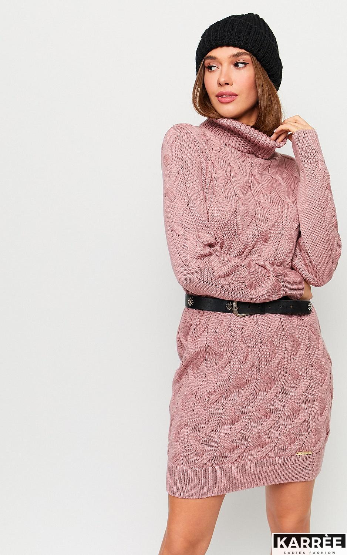 Платье Сити, Пыльно-розовый - фото 3