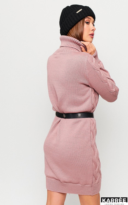 Платье Сити, Пыльно-розовый - фото 4