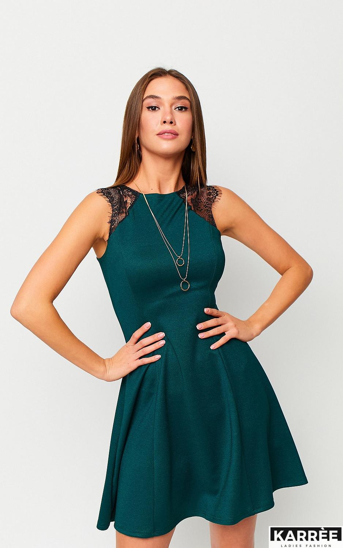 Платье Брют, Темно-зеленый