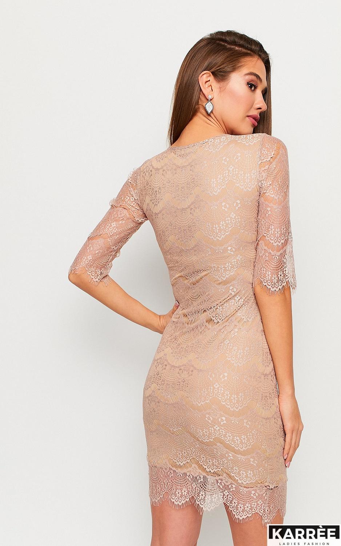 Платье Молли, Бежевый - фото 3