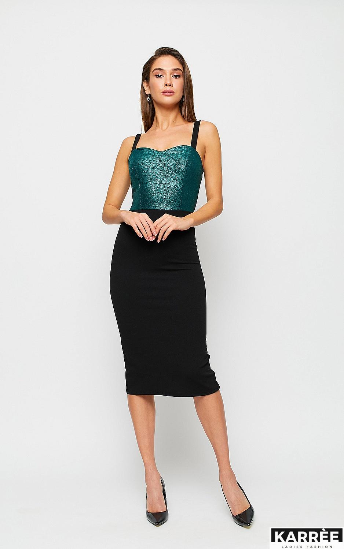 Платье Рокси, Зеленый - фото 4