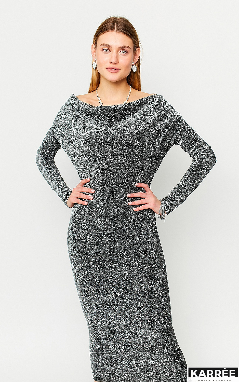 Платье Теона, Серебро - фото 1
