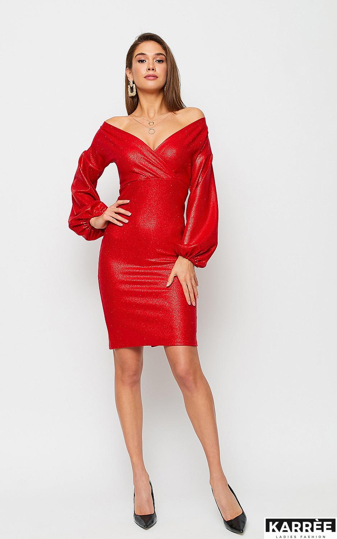 Платье Асти, Красный - фото 5