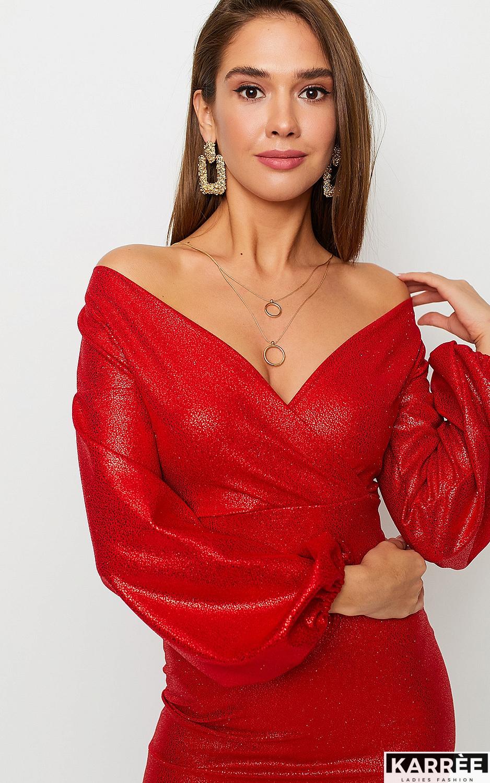 Платье Асти, Красный - фото 3