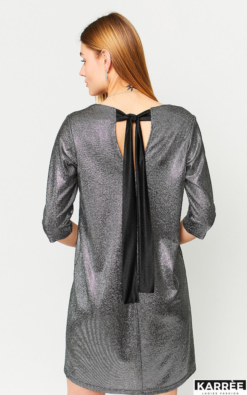 Платье Рене, Черный - фото 2